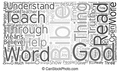 Can Society Understand the Bible Today text background word cloud concept