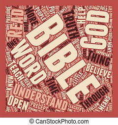 Can Society Understand the Bible Today text background wordcloud concept