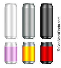 Aluminum drink can templates