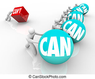 Can Vs Cant People Competing Winners Loser Attitude - The...