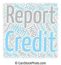 Can we dispute our own official credit scores text background wordcloud concept