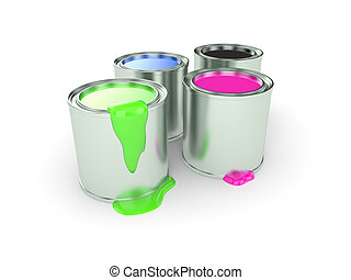 Can with a paint