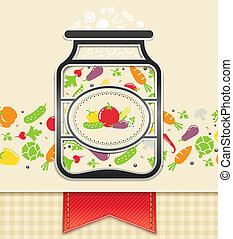 can with canned vegetables. food background