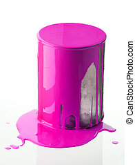Can with pink paint
