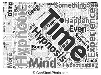 Can you be hypnotized Word Cloud Concept Text Background