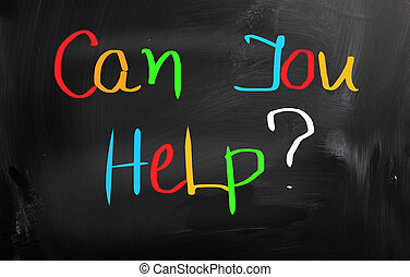 Can You Help Concept