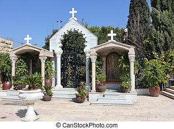 cana, イスラエル, kefar, 奇跡, 中庭, 教会, jesus', 最初に