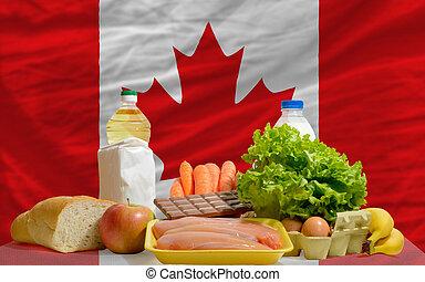 canadá, alimento, bandera nacional, comestibles, básico, ...