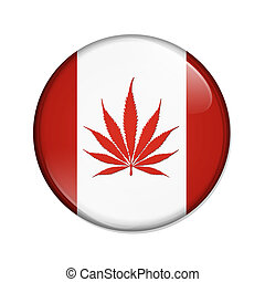 canadá, botão, legalized, marijuana
