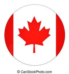 canadá, botón, bandera