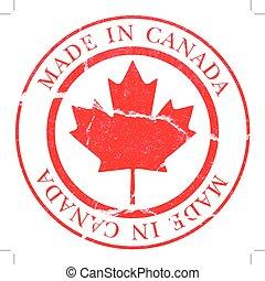 canadá, calcomanías, hecho