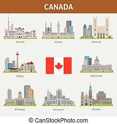 canadá, ciudades