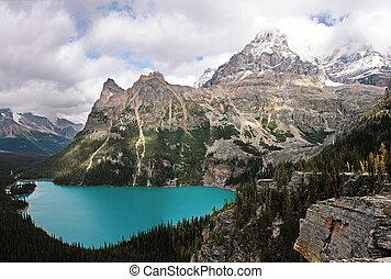 canadá, colombia, yoho, nacional, lago, británico, parque, o...