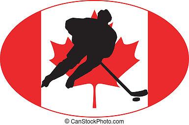canadá, colores, hockey