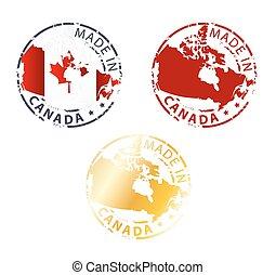 canadá, estampilla, hecho