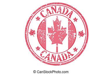 canadá, estampilla