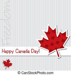 canadá, feliz, day!
