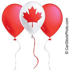 canadá, globos