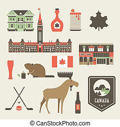 canadá, iconos