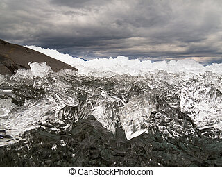 canadá, lago, ice-break, território, laberge, yukon