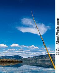 canadá, lago, território, pesca, laberge, yukon