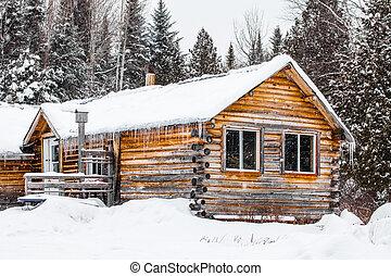 canadá, madera, quebec, chalet, registro