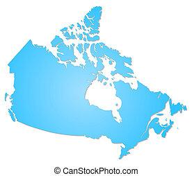 Canadá, mapa