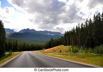 canadá, montañas, rocoso