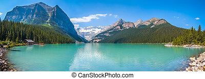 Canadá, montanha,  Banff,  louise, nacional, lago, parque,  Alberta
