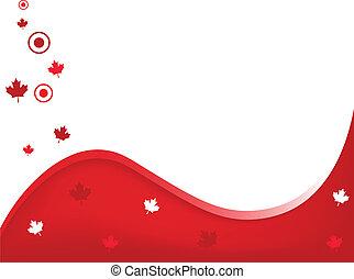 canadá, ondulado, fundo