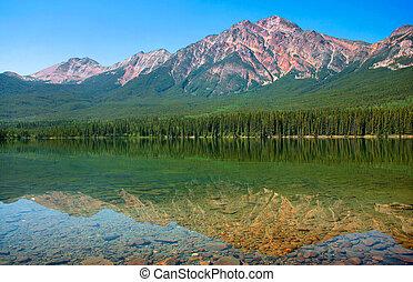 Canadá, panorâmico, paisagem,  Alberta