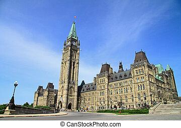 canadá, parlamento, edifício histórico