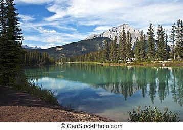 Canadá, parque, nacional,  Banff,  Alberta
