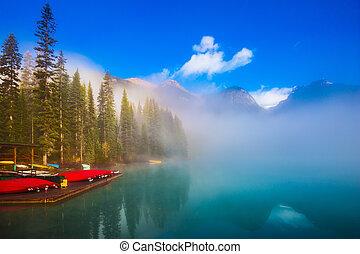 canadá, parque, nacional, yoho