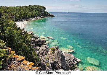 canadá, península, verano, bruce, tiempo, ontario
