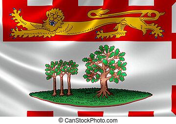 canadá, provinciano, isla, bandera, edward, príncipe