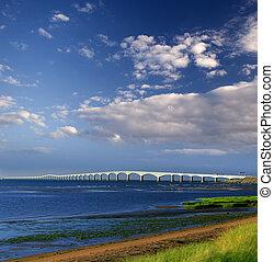 canadá, puente, isla, -, edward, príncipe, confederación