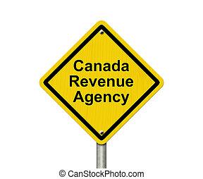 canadá, rendimento, agência, sinal aviso