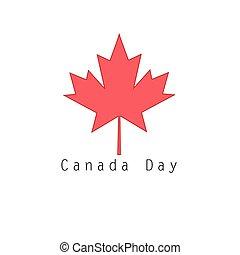 canadá, símbolo, folha, maple, vermelho