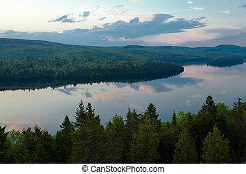 Canadá,  sacacomie, lago,  Quebec