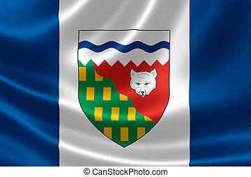 canadá, territórios, bandeira, noroeste