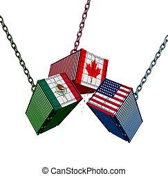 canadá, unidas, méxico, acordo, comércio, estados