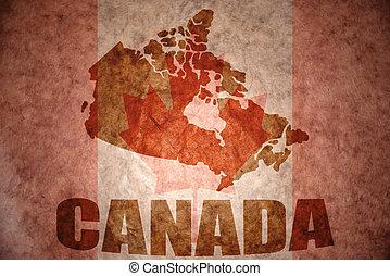 canadá, vendimia, mapa