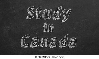 canada, étude