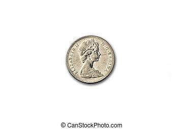 canada, 1965, monnaie, 5cents, devant