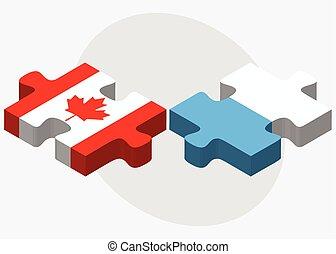 Canada and San Marino Flags