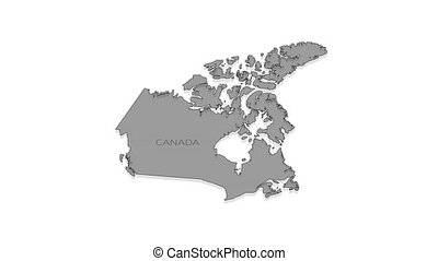 Canada animated map with alpha channel. - Stylish and modern...