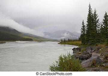 canada, arcobaleno, fiume, sopra,  -, parco, diaspro, valle, nazionale