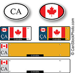 canada auto set against white background, abstract vector...