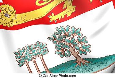 canada., bandera, edward, príncipe, isla